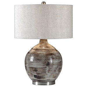 Uttermost Lamps Tamula Distressed Ivory Table Lamp