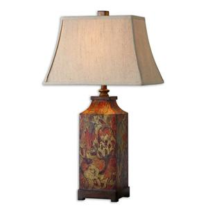 Uttermost Table Lamps Colorful Flowers