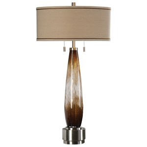 Uttermost Lamps Garonne Amber & Ivory Table Lamp