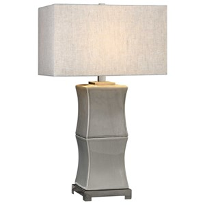 Arris Aged Gray Table Lamp