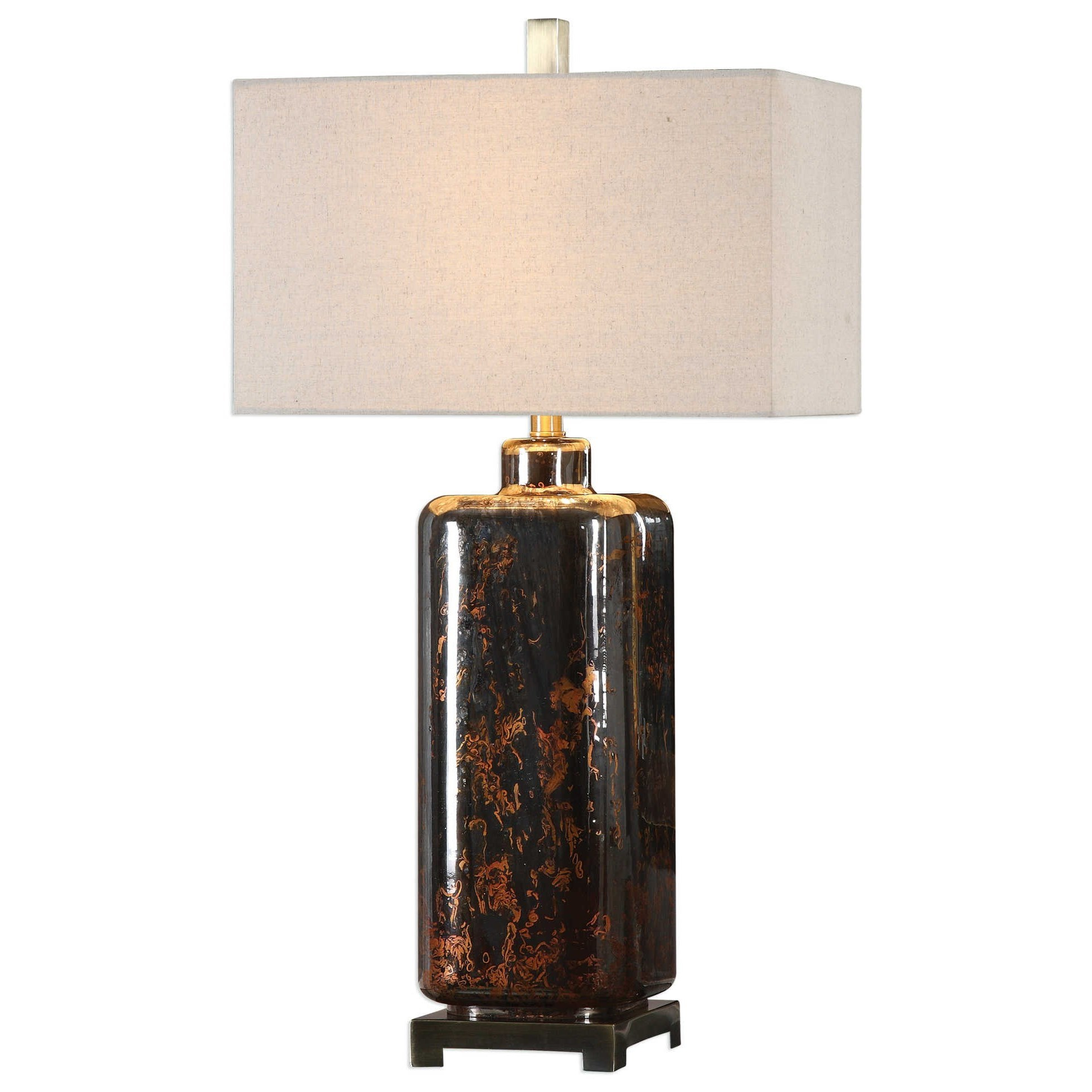 Uttermost Lamps Vanoise Bronze Mercury Glass Lamp - Item Number: 27710-1