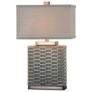 Virelles Sage Gray Ceramic Lamp