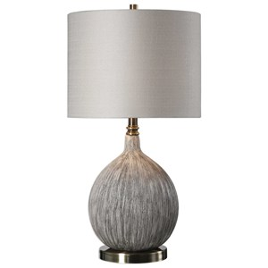 Uttermost Lamps Hedera Textured Ivory Table Lamp