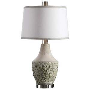 Uttermost Lamps Veteris Concrete Design Lamp