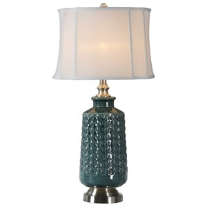 Vallon Dark Blue-Green Lamp