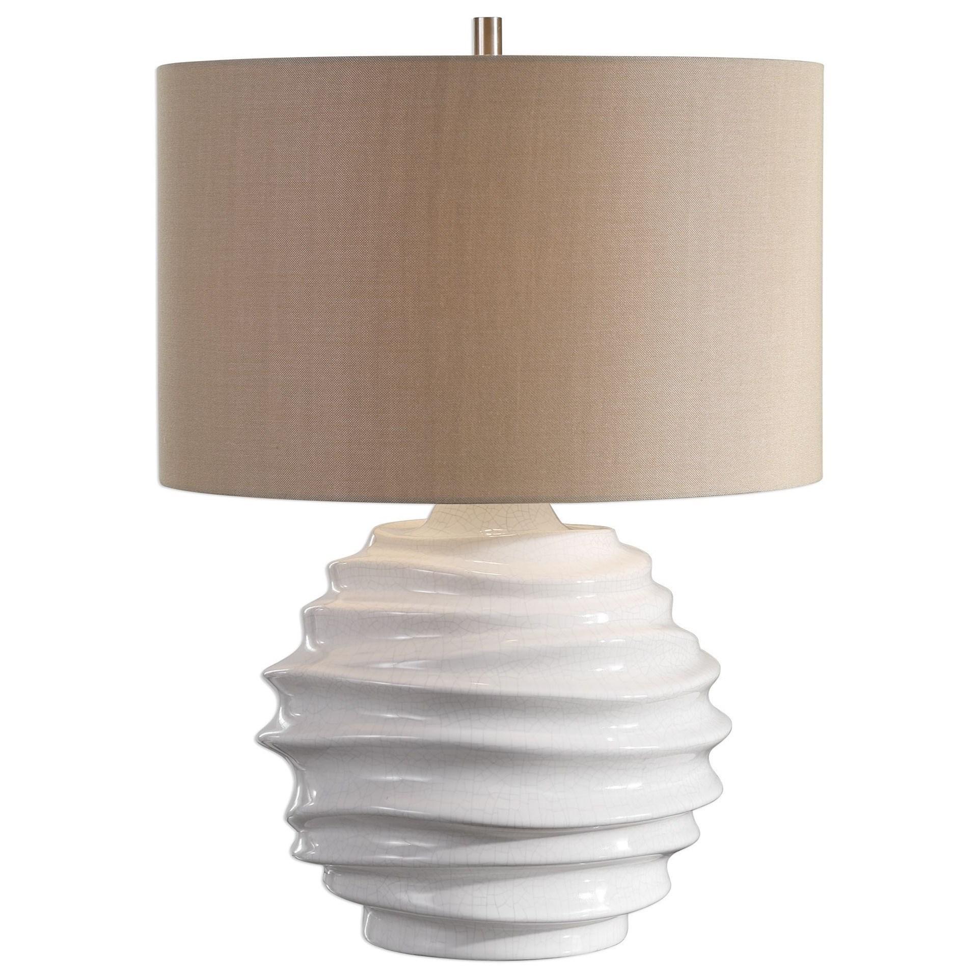 Gisasa Crackled White Lamp