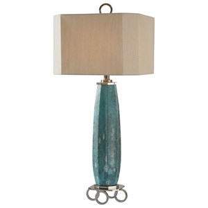 Cabella Aged Blue Table Lamp
