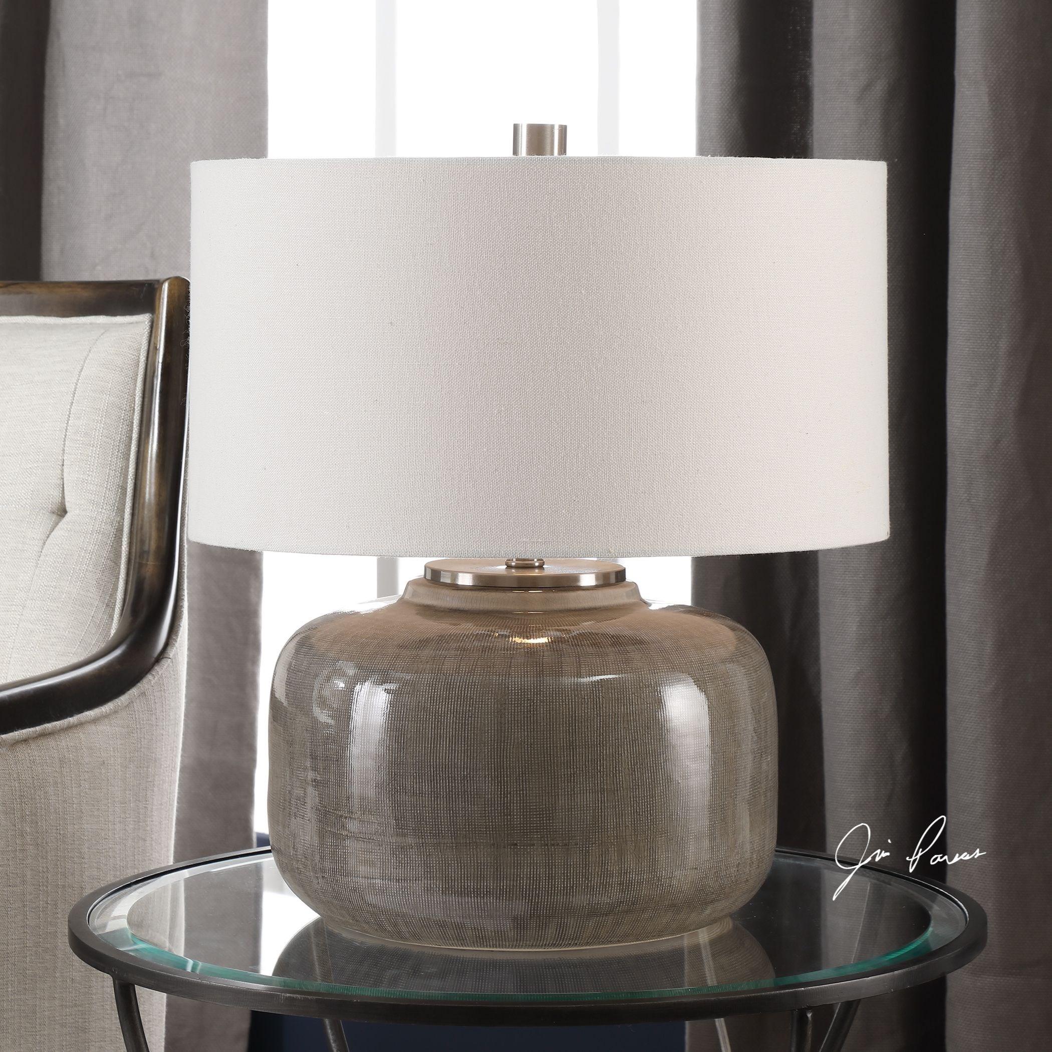 Dhara Gray Glaze Lamp