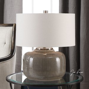 Uttermost Lamps Dhara Gray Glaze Lamp