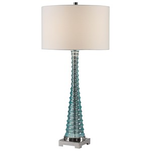 Uttermost Lamps Mecosta Sky Blue Lamp