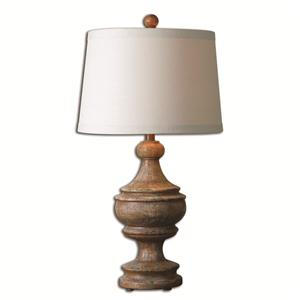 Uttermost Lamps Via Lata Solid Wood Table Lamp