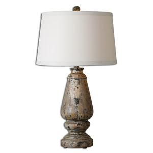 Uttermost Lamps Doria Aged Wood Table Lamp
