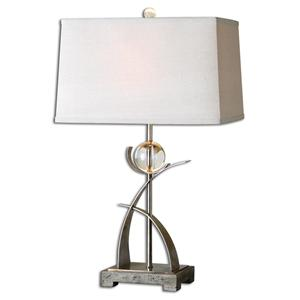 Cortlandt Curved Metal Table Lamp