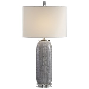 Uttermost Lamps Ravi Gray Patterned Lamp