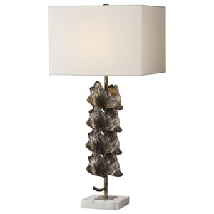 Uttermost Lamps Ginkgo Metallic Leaves Lamp