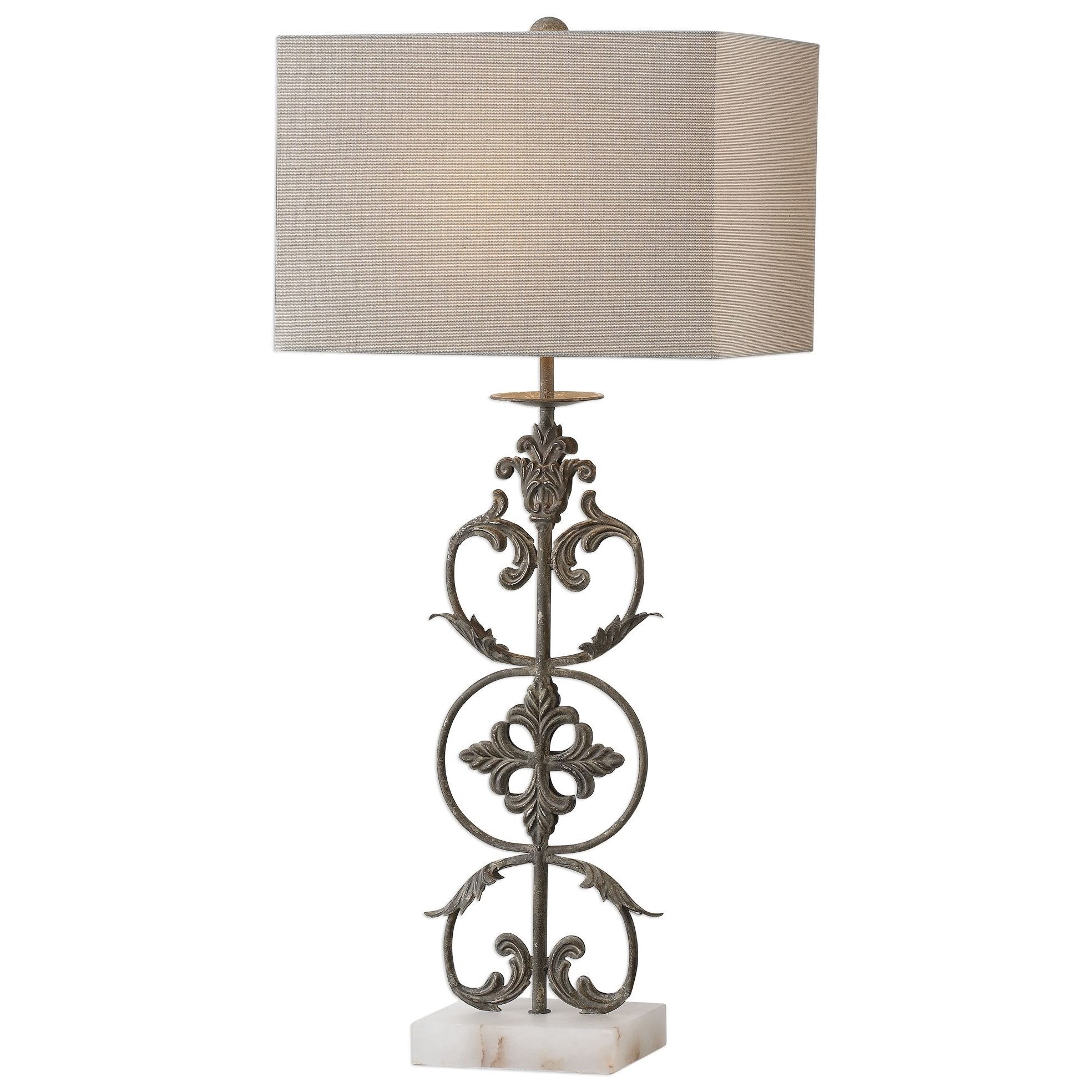 Gerosa Aged Bronze Table Lamp