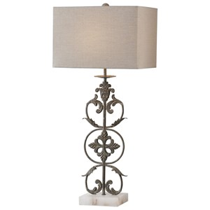 Uttermost Lamps Gerosa Aged Bronze Table Lamp