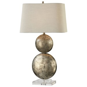 Uttermost Lamps Ordona Antiqued Metallic Silver La