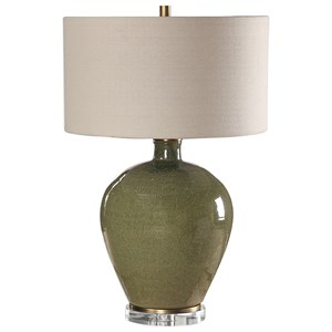 Elva Emerald Table Lamp