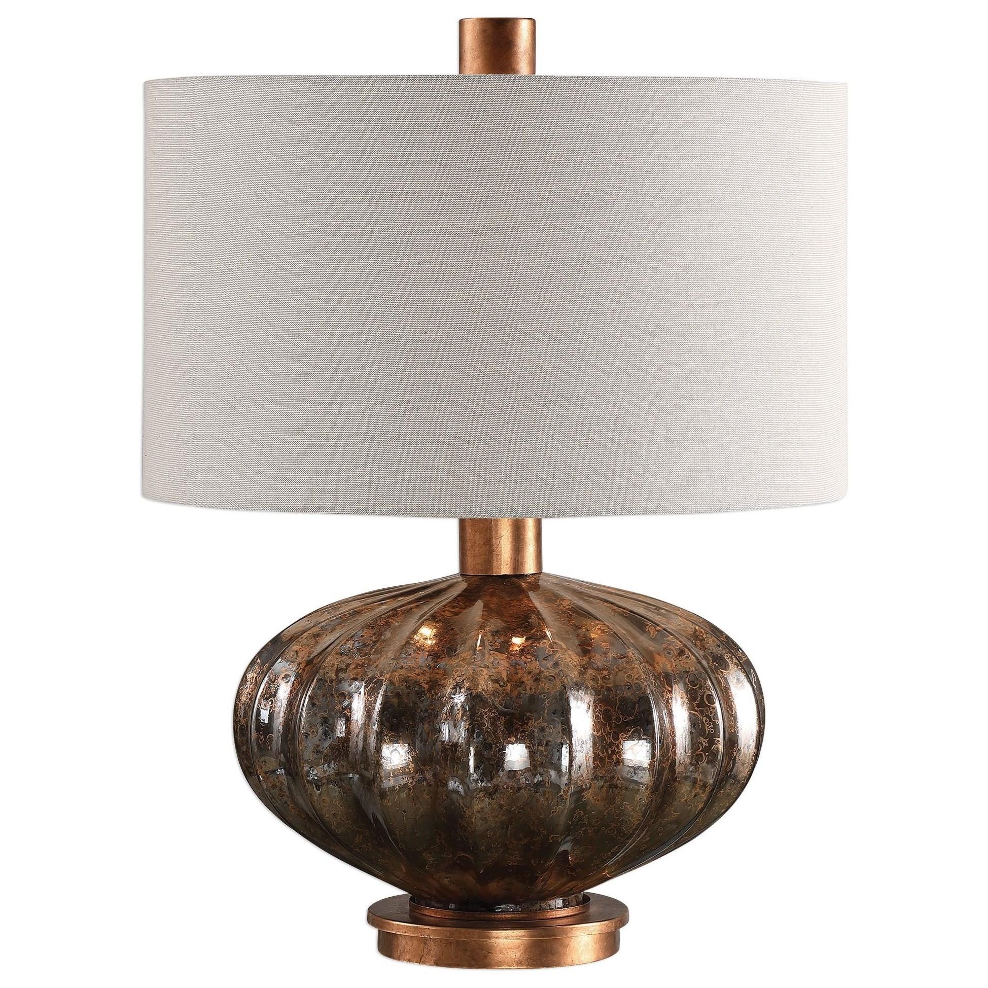 Dragley Bronze Mercury Glass Lamp