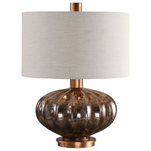 Dragley Bronze Mercury Glass Lamp