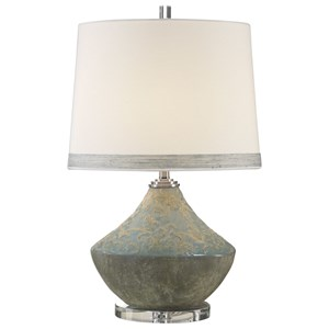 Padova Aged Light Blue Lamp