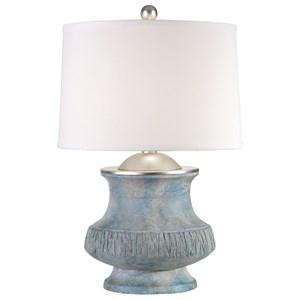 Uttermost Lamps Gavello Aged Blue Lamp
