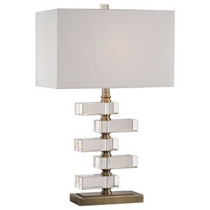 Spilsby Stacked Crystal Block Lamp