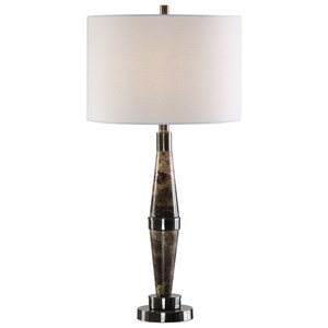 Uttermost Lamps Maston Black Brown Marble Lamp