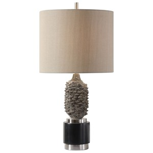 Uttermost Lamps Banksia Metallic Silver Lamp