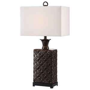 Bertoia Black Patterned Lamp