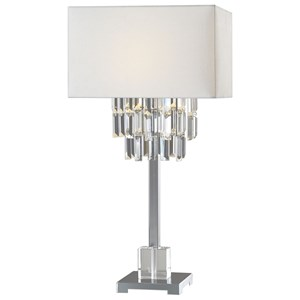 Uttermost Lamps Resana Polished Nickel Lamp