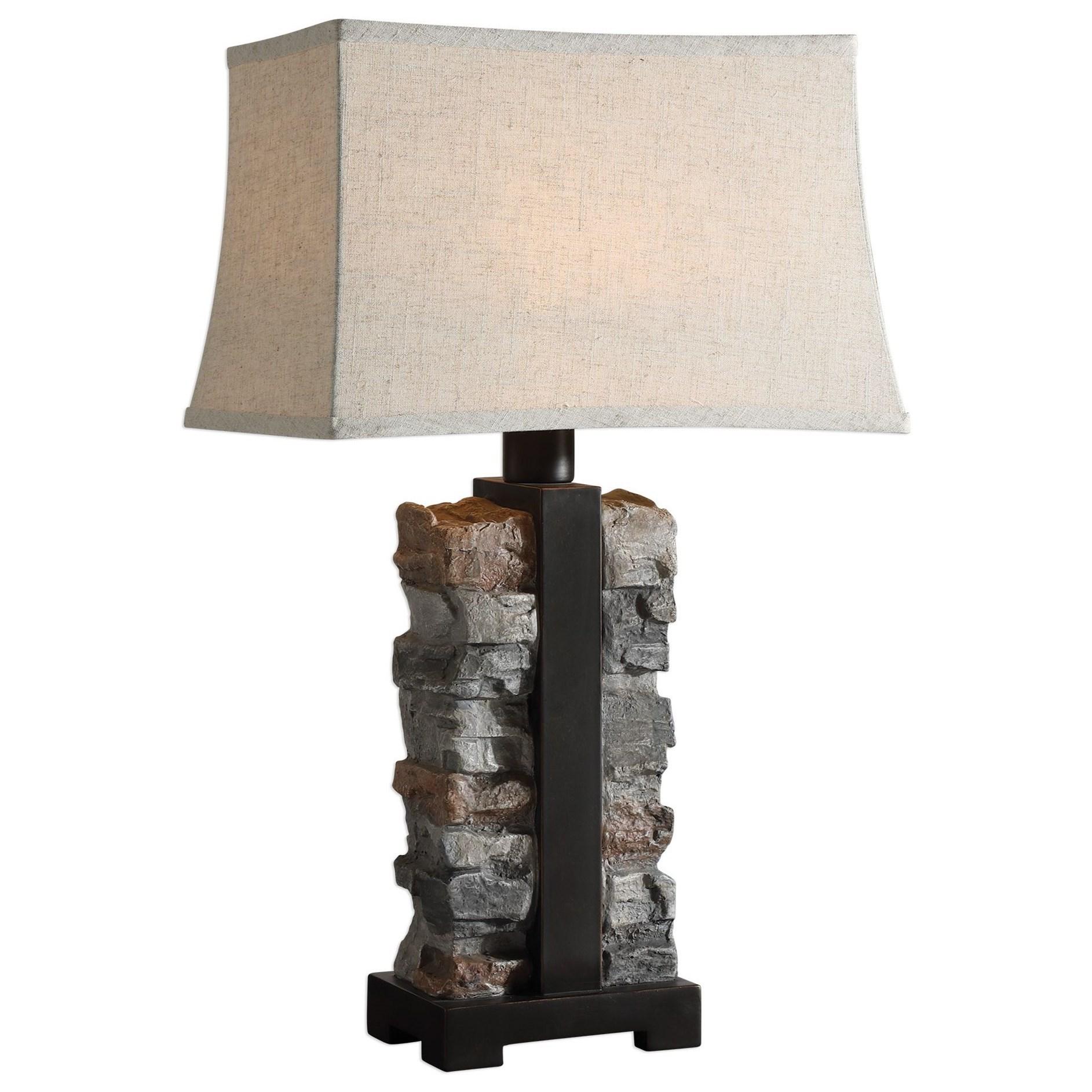 Kodiak Stacked Stone Lamp
