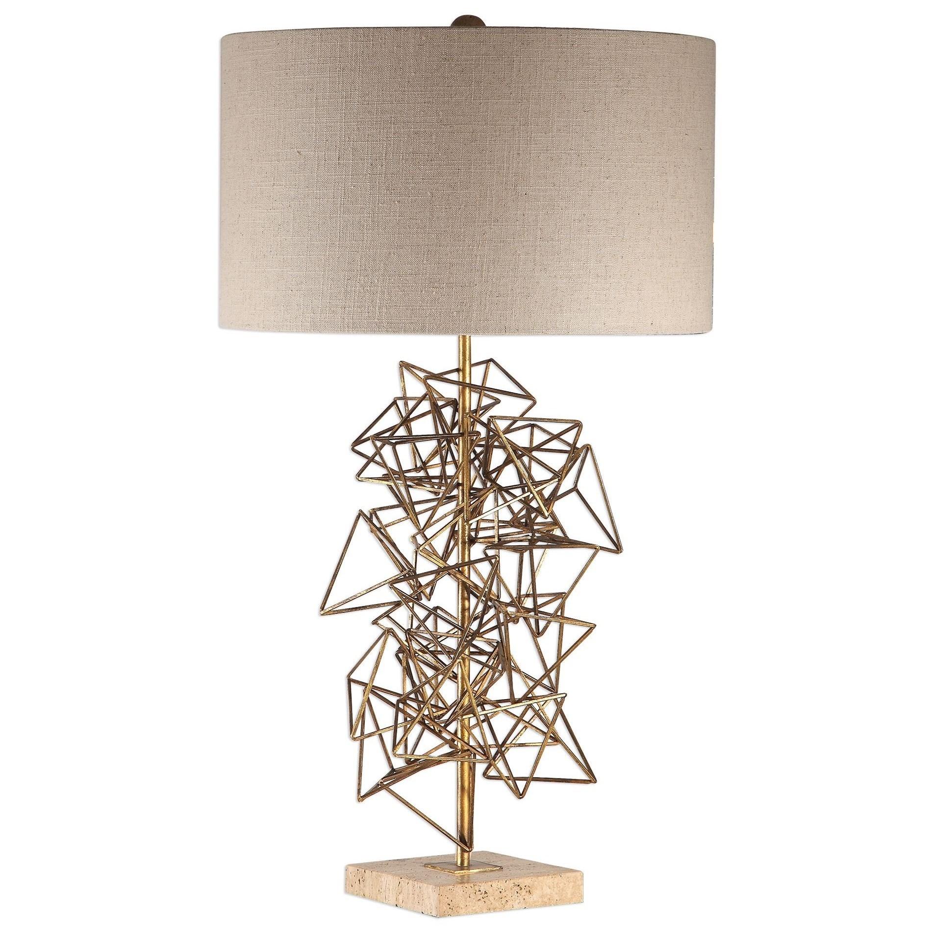 Vasaya Abstract Gold Table Lamp