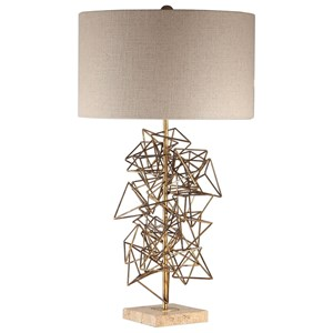 Vasaya Abstract Gold Table Lamp