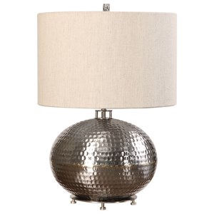 Uttermost Lamps Metis Hammered Steel Lamp