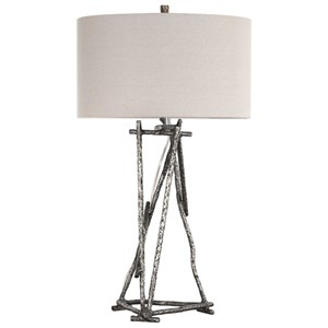 Uttermost Lamps Lakota Brushed Nickel Lamp