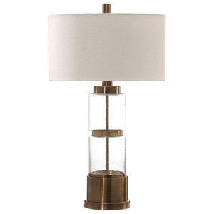 Uttermost Lamps Vaiga Glass Column Lamp