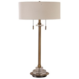 Uttermost Lamps Harlyn Antique Brass Lamp