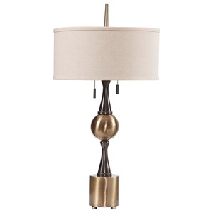 Uttermost Lamps Badru Antique Brass Lamp