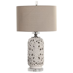 Uttermost Lamps Dahlina Ceramic Table Lamp