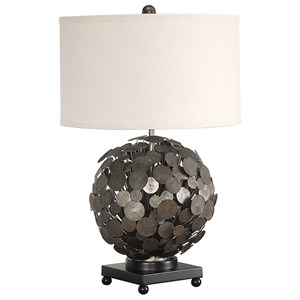 Uttermost Lamps Callisto Steel Disk Table Lamp