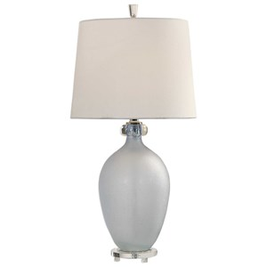 Uttermost Lamps Leah Frosted Glass Table Lamp