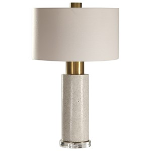 Uttermost Lamps Vaeshon Concrete Table Lamp