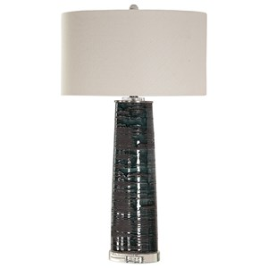 Uttermost Lamps Chamila Dark Charcoal Lamp
