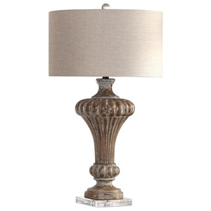 Treneece Aged Pecan Lamp