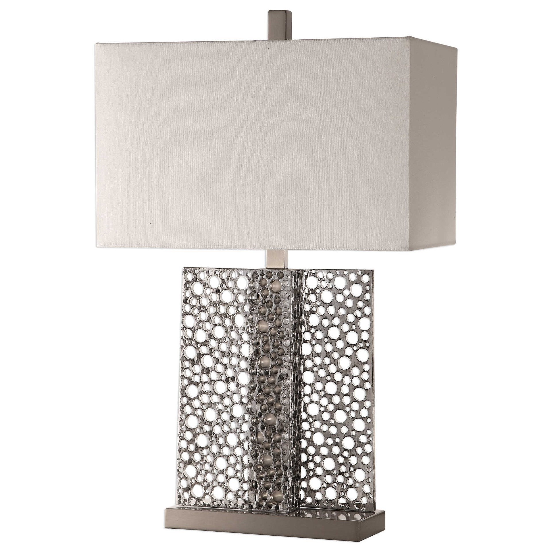 Sicero Polished Silver Lamp