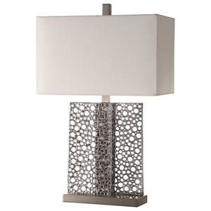 Uttermost Lamps Sicero Polished Silver Lamp