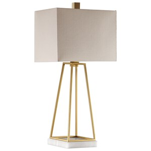 Uttermost Lamps Mackean Metallic Gold Lamp