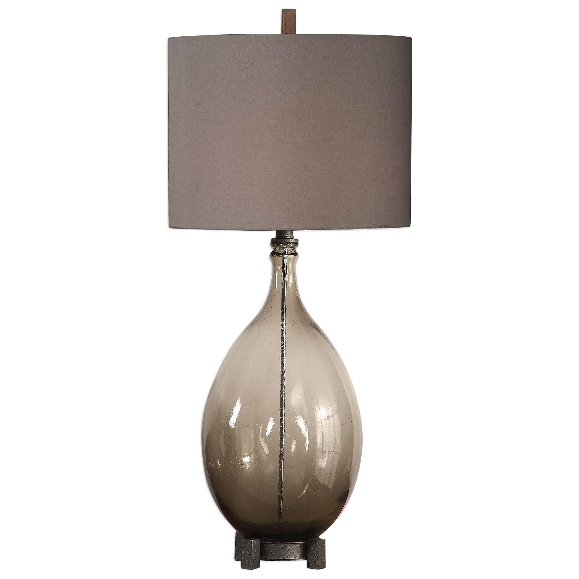 Saimara Charcoal Glass Lamp